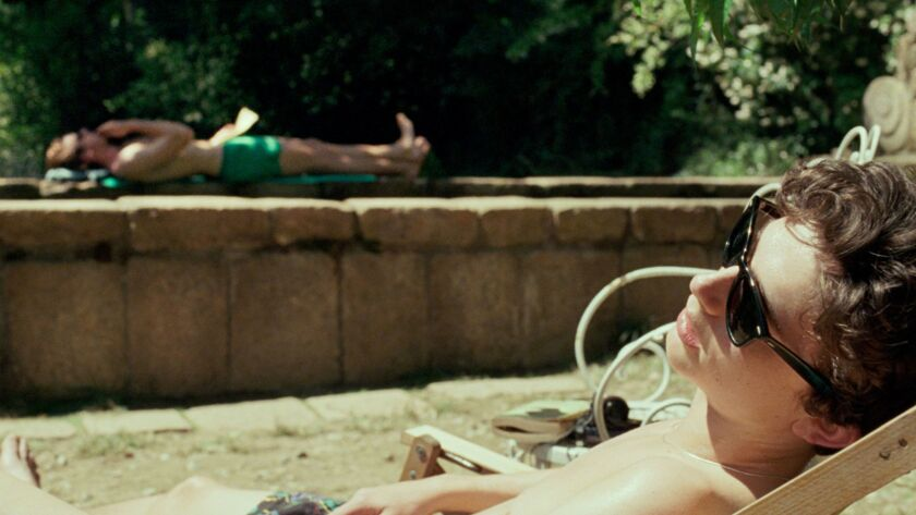 """(L-R) - Armie Hammer as Oliver and Timothee Chalamet as Elio in a scene from the movie """"Call Me By Y"""