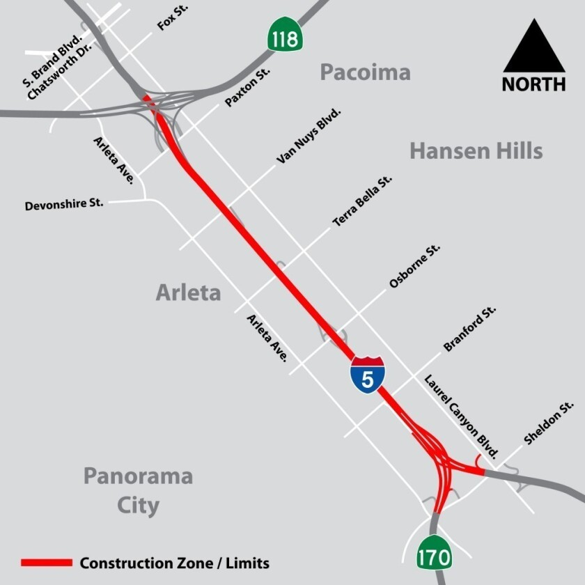Caltrans announces full closure of northbound I-5 north of Burbank