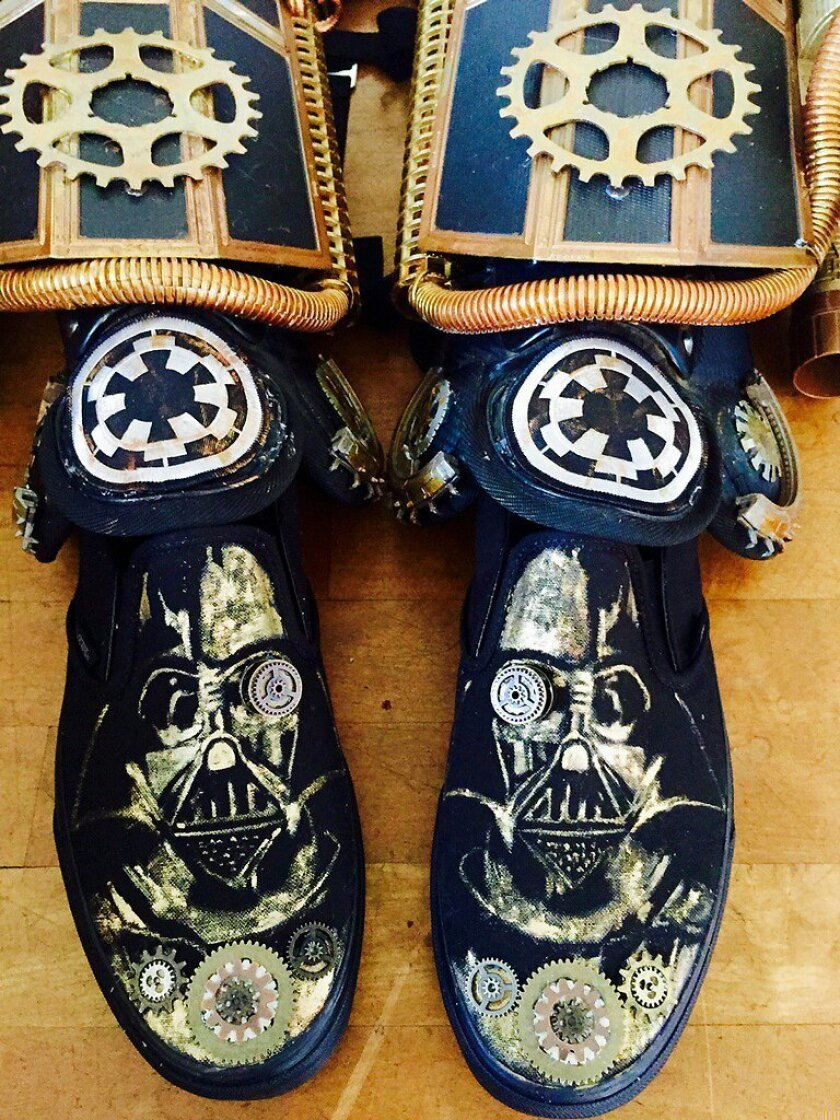 When it comes to kicks, Dude Vader prefers Vans.