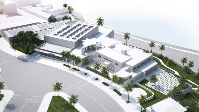 A bird's eye view of MCASD's planned expansion in La Jolla. The plan will add 30,000 square feet of gallery space. (Selldorf Architects)