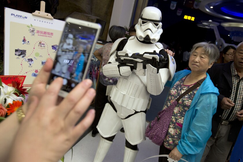 Storm troopers in Wanda Mall