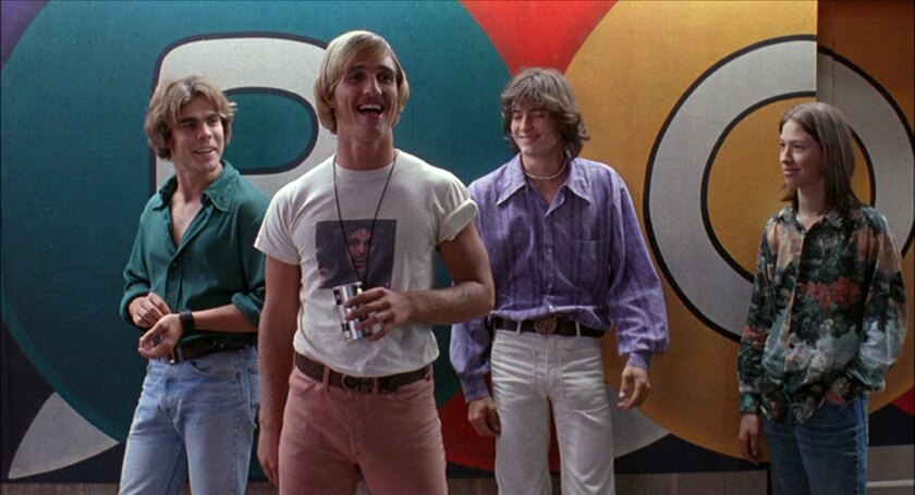 """A scene from 1993's """"Dazed and Confused,"""" one of many movies enhanced by Bob Dylan's music."""