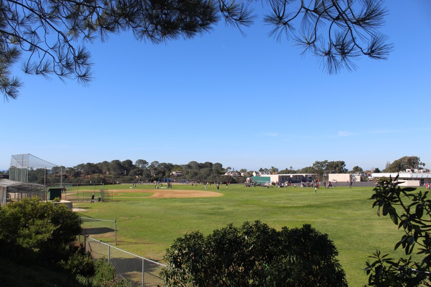The Del Mar Heights School field.