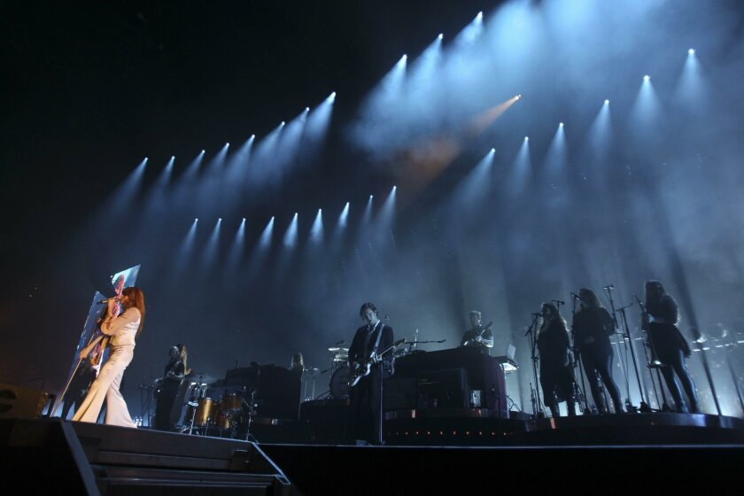 SAN DIEGO, CA, OCTOBER 14, 2015 | Lead singer Florence Welch sings as Florence and the Machine perform at the Viejas Arena in San Diego on Wednesday. |_Mandatory Photo Credit: Photo by Hayne Palmour IV/San Diego Union-Tribune_©2015 San Diego Union-Tribune, LLC
