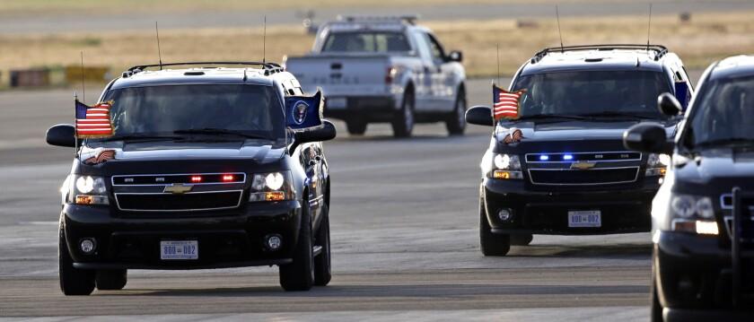 Obama motorcade