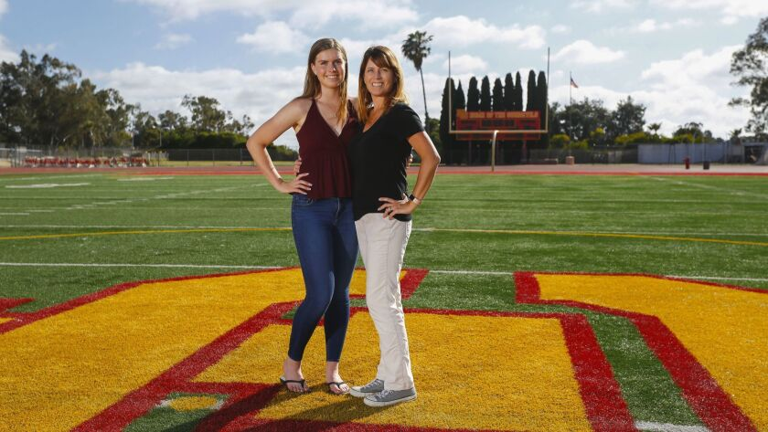 Mother Christine Ward played soccer and softball and earned a 4.0 GPA. Daughter Stephanie played soccer and lacrosse with a 4.13 GPA.