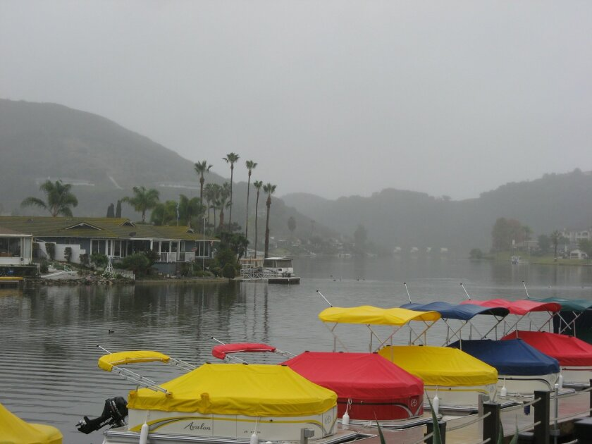 Work to diagnosis the sources of contamination in Lake San Marcos is underway. Downpours in the region this week aided ecologists trying to collect data during rain events.