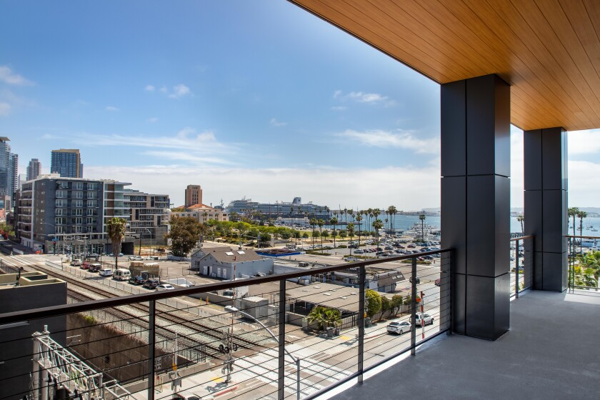 The 2045 Pacific Highway site, as seen from Kilroy's 2100 Kettner office building.