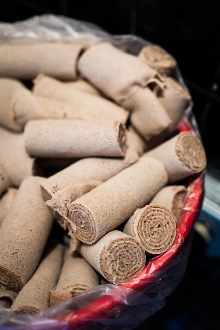 Injera, a flatbread made out of the Ethiopian grain teff