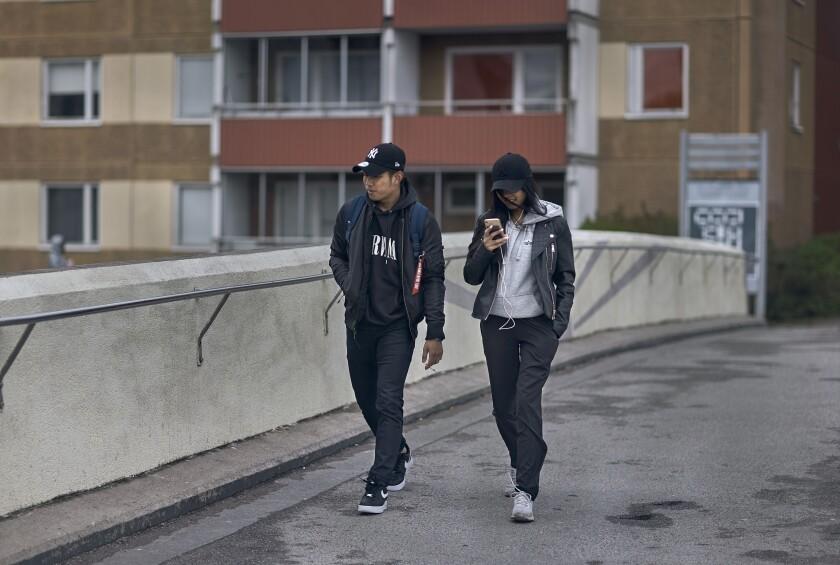 Virus Outbreak Sweden Migrants
