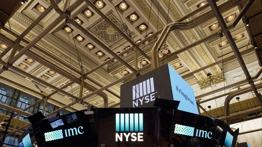 FILE- This Jan. 4, 2018, file photo shows the interior of the New York Stock Exchange. The U.S. stoc