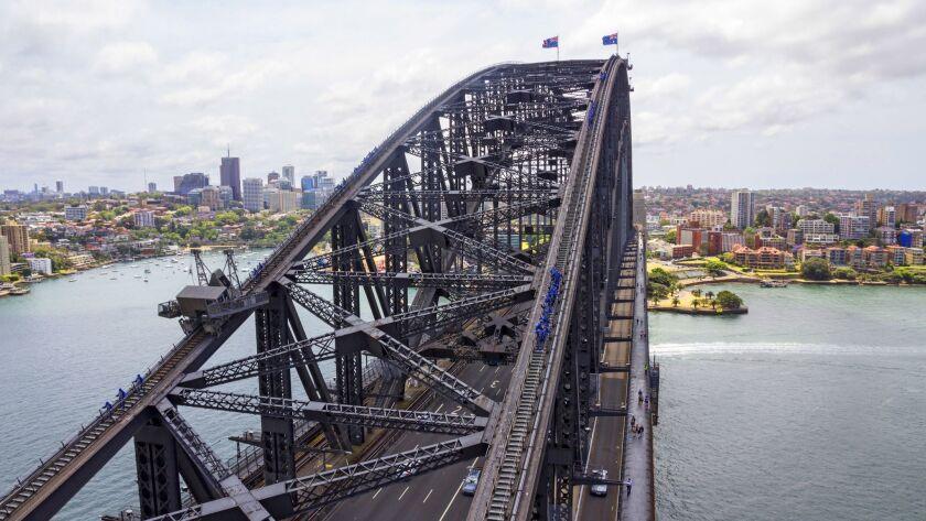 View of the Sydney Harbour Bridge Climb.