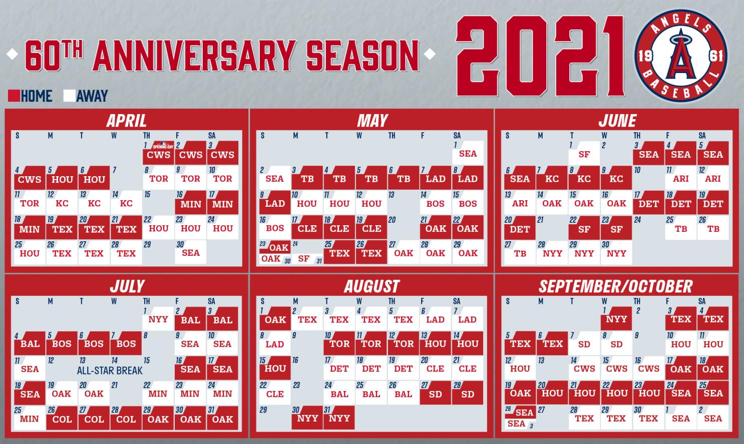 Dodgers Calendar Schedule 2021 Angels unveil their schedule for 2021 MLB regular season   Los