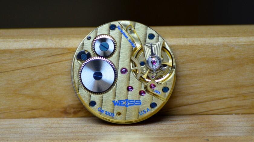Weiss Watch Co.'s U.S.-made CAL 1003 mechanical watch movement
