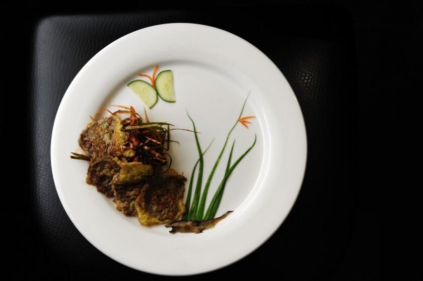 The Yook Jeon (Beef Pancake) at Gwang Yang Korean BBQ restaurant.