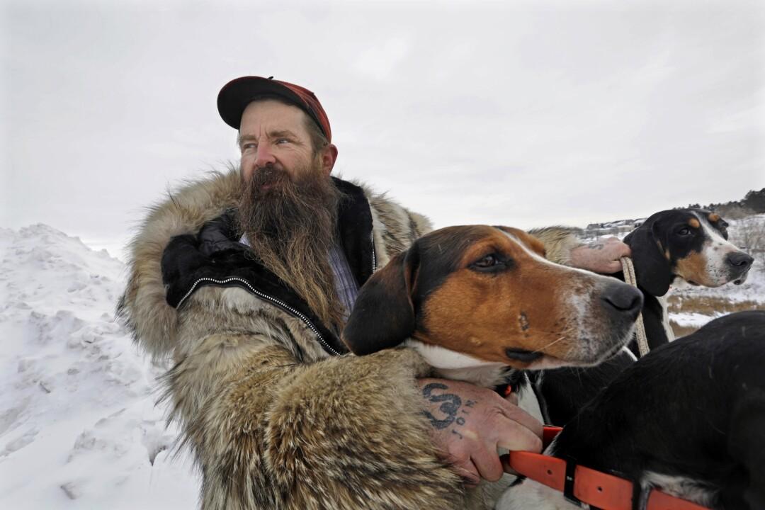 Marty Beard is a mountain lion hunter who lives outside Bismarck, N.D.