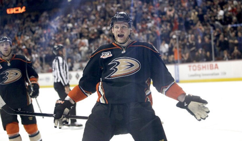Corey Perry as a member of the Anaheim Ducks