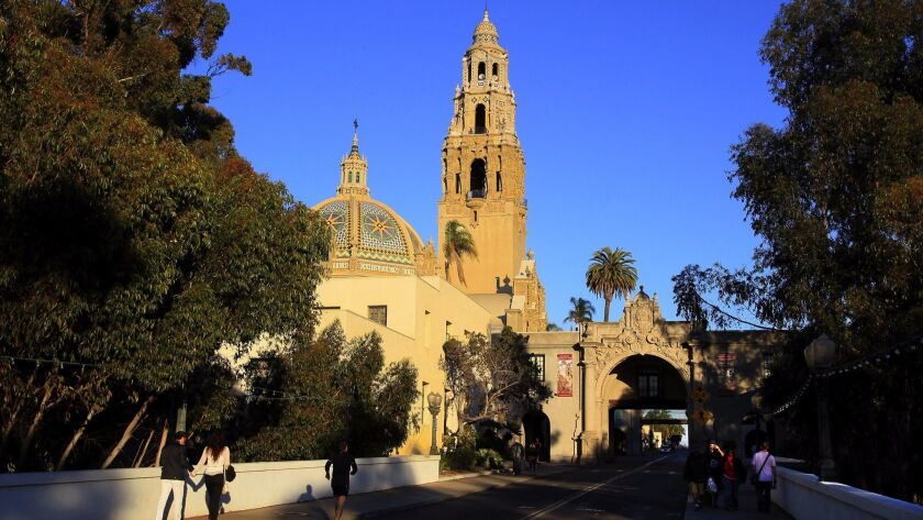 View of the California Tower at the Museum of Man in Balboa Park.