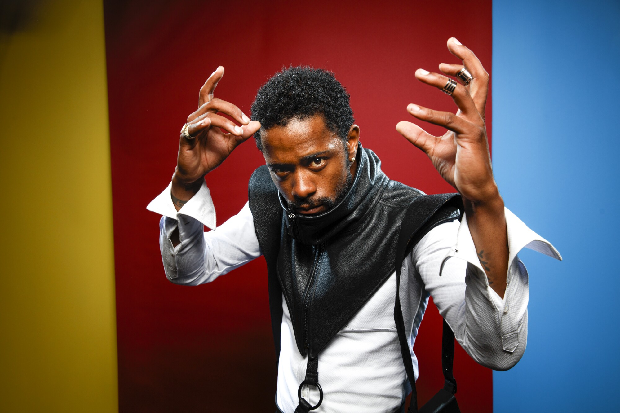 """Lakeith Stanfield, from the film """"Death Note,"""" photographed in San Diego at Comic-Con 2017."""
