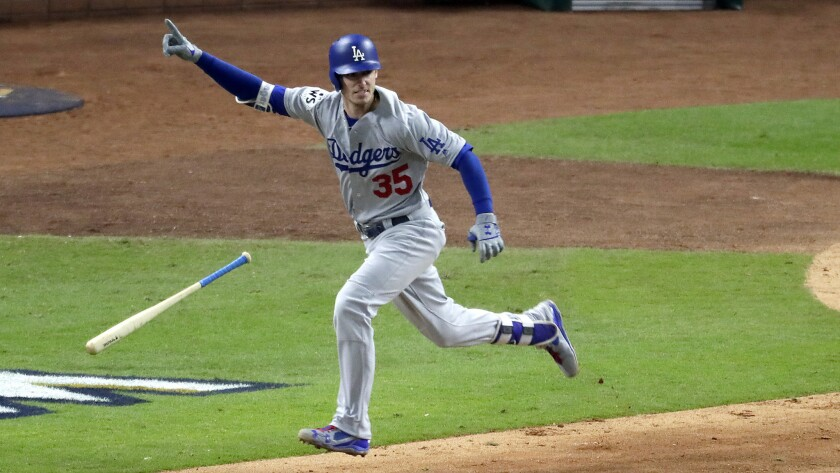 Cody Bellinger had surgery to repair the right shoulder injury he sustained celebrating a home run in Game 7 of the NLCS.