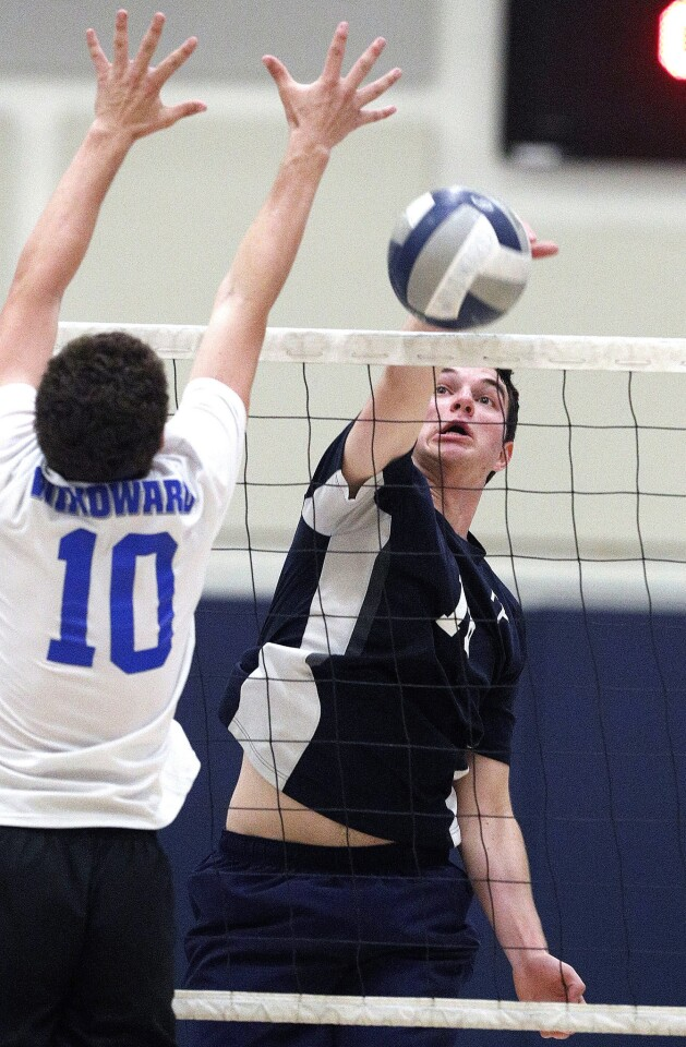 Photo Gallery: Flintridge Prep vs. Windward in CIF Southern Section Division IV semifinal boys' volleyball match