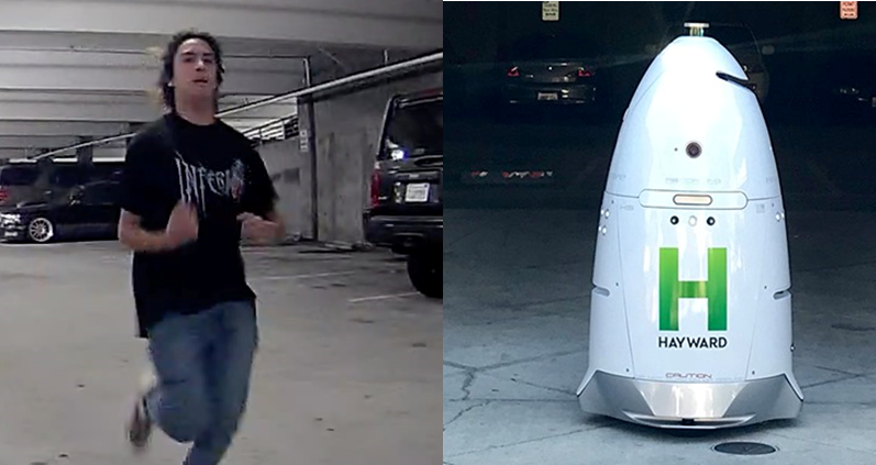 Robot in Hayward manages to tape suspect before toppling