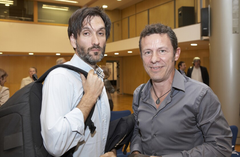 Spanish journalists Javier Espinosa and Ricardo Garcia Vilanova.