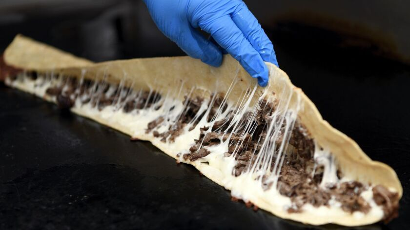 ANAHEIM, CA-March 25, 2019: The famous 29-inch Machete from Fonda Mixcoac restaurant on Monday, Marc