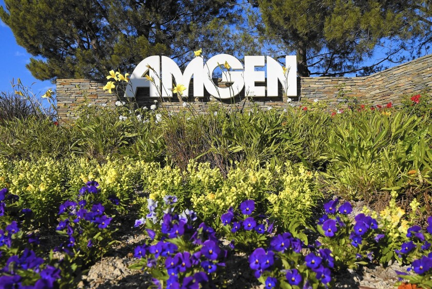 Developed by Amgen, Repatha is the first in a new class of medications that help the liver more effectively remove bad cholesterol from the blood. Above, Amgen's headquarters in Thousand Oaks.