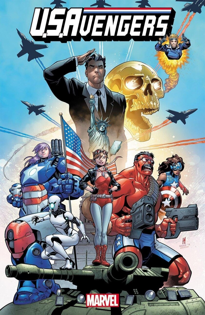 Marvel Comics will debut some of its latest comics at San Diego Comic-Con 2016. Pictured: U.S.Avengers No.1, art by Paco Medina.