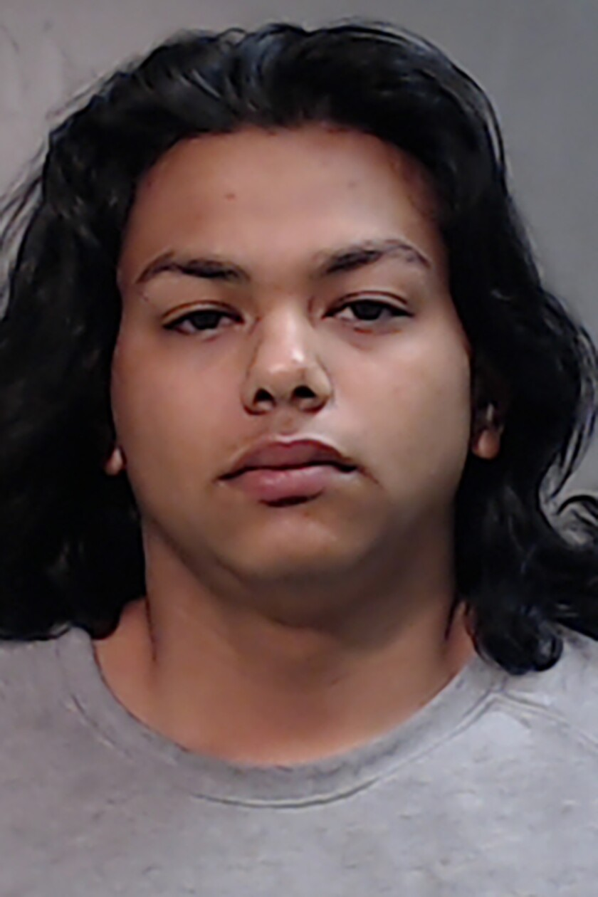 """This undated photo provided by the Hidalgo County (Texas) Jail shows Claudio Gomez. Gomez is accused of hanging a small puppy by the neck from a tree and posting a video of the deed on Facebook. Deputies say Claudio Gomez of Monte Alto, Texas, told them he was """"acting out of boredom."""" He's booked in the Hidalgo County Jail, charged with torturing a non-livestock animal. The third-degree felony is punishable by two to 10 years in prison.(Hidalgo County Jail via AP)"""