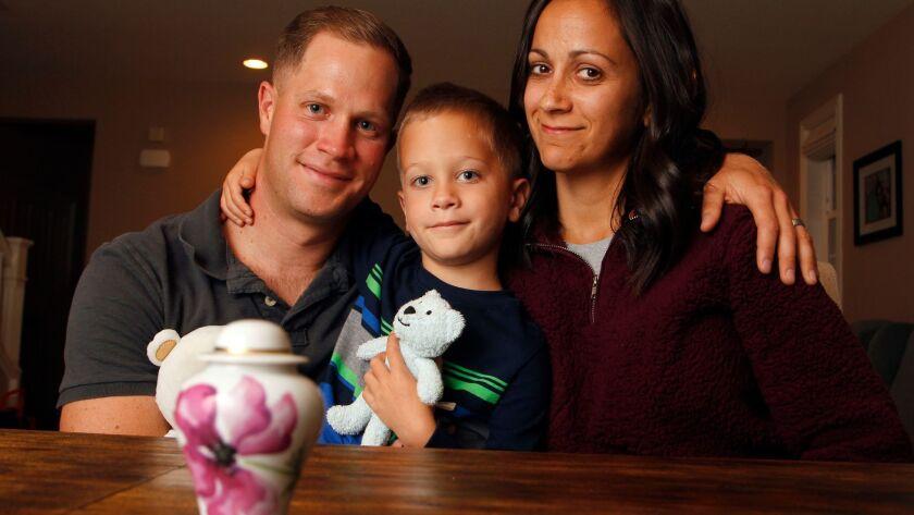 OCEANSIDE, February 23, 2018 | Marine Capt. John Watkins, his wife Jayshree Watkins, and their son K