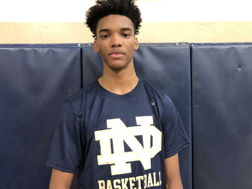Ziaire Williams of Sherman Oaks Notre Dame is headed to Sierra Canyon.
