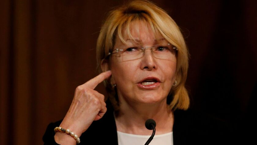 """""""We are confronting a crime against humanity,"""" Venezuelan Atty. Gen. Luisa Ortega Diaz says at a new"""