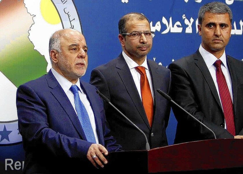 Haider Abadi and other Iraqi lawmakers