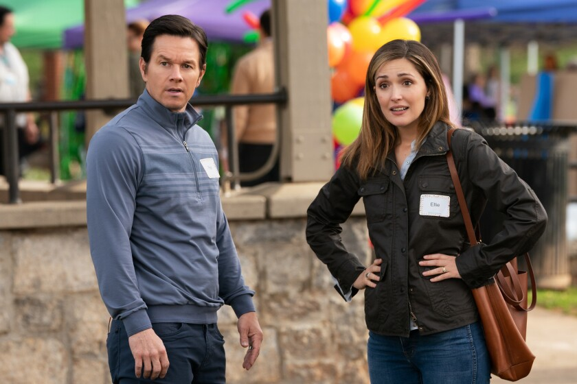 Rose Byrne (right) and Mark Wahlberg in Instant Family from Paramount Pictures.