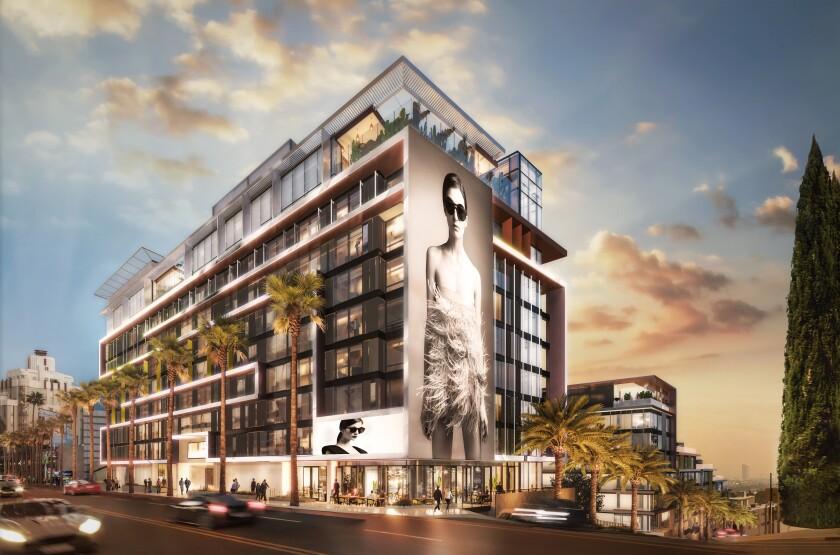 Pendry Hotel WeHo rendering
