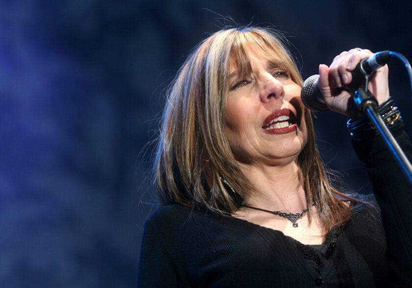 """La cantante mexicana Betsy Pecanins durante su presentación el 28 de noviembre, en el concierto titulado """"El Hábito del Blues"""", en la ciudad de Guadalajara."""