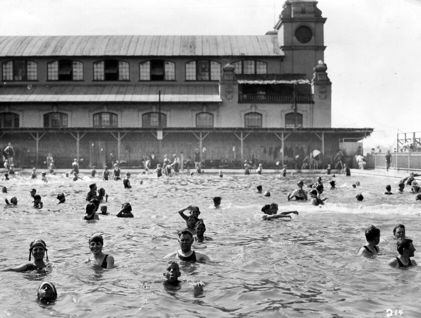 Though near the beach, Tent City featured a large swimming pool.