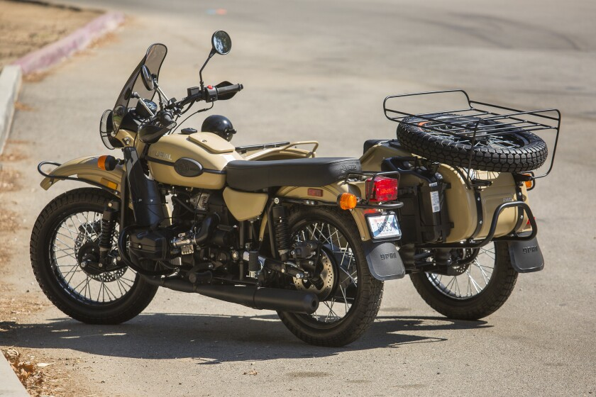 The Ural Sahara is a Russian-made sidecar motorcycle. Despite the antique look, the newer Urals feature Brembo disc brakes and fuel injection.