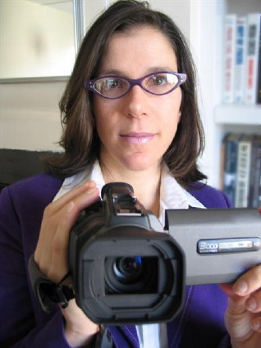 """In this image released by HBO, documentary filmmmaker Alexandra Pelosi is shown. Pelosi made a documentary, """"Right America, Feeling Wronged,"""" that debuts Monday, Feb. 16, 2009, at 8 p.m. on HBO. (AP Photo/HBO, Michiel Vos )"""