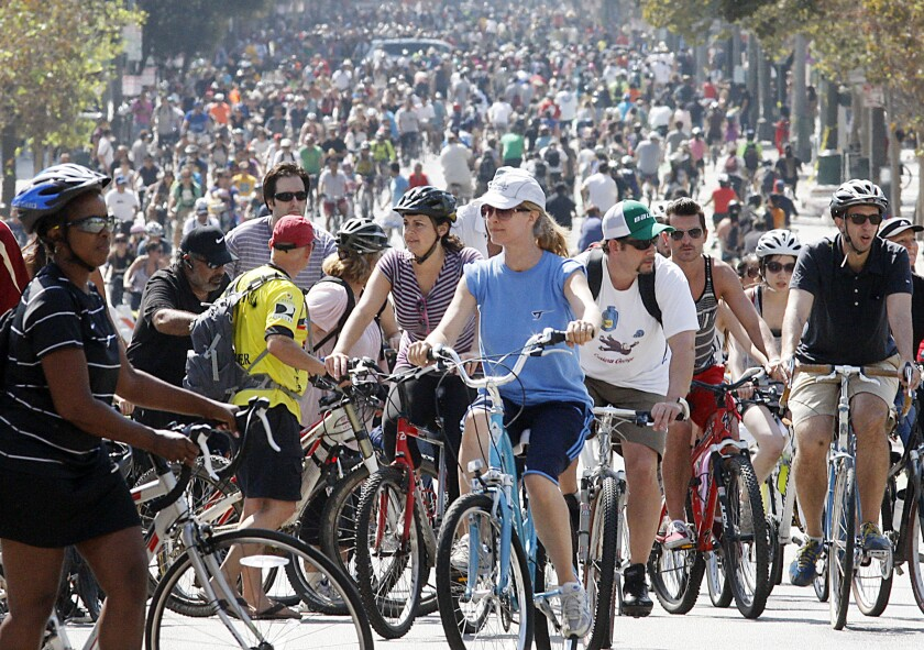 100,000 expected Sunday as CicLAvia rolls through L.A. to the sea