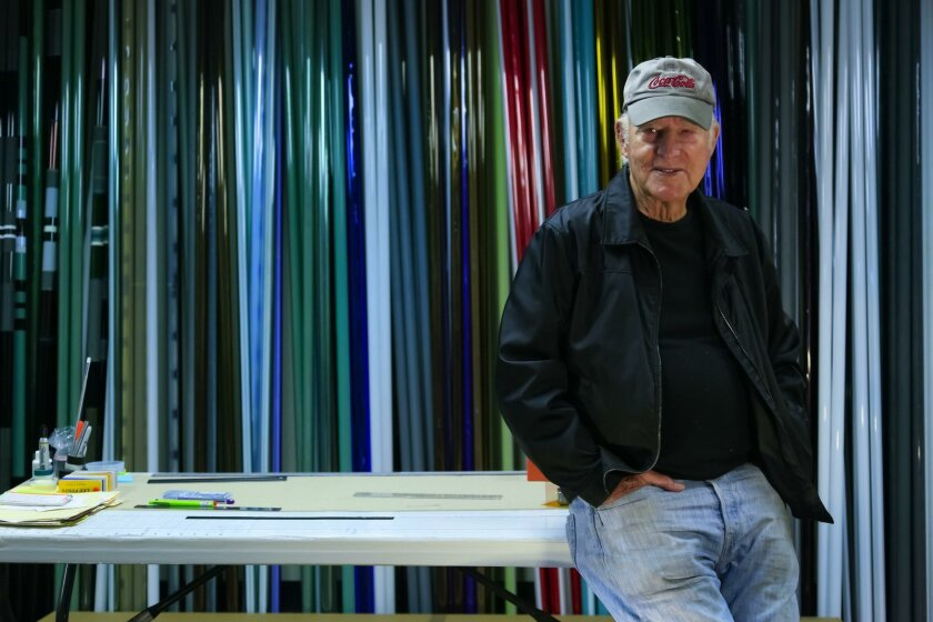 Artist Robert Irwin in his art studio San Diego. Irwin has a new exhibit at the Smithsonian's Hirshhorn Museum and Sculpture Garden.