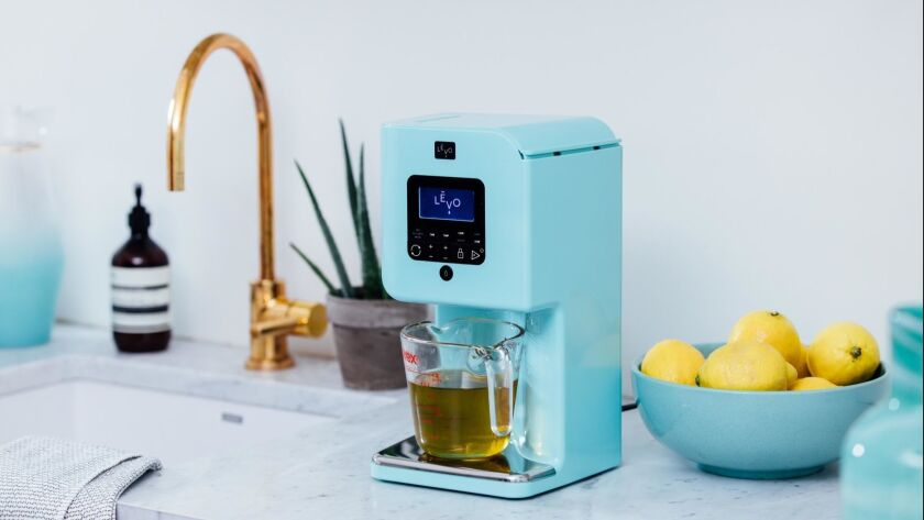 From Levo - a machine that infuses oils with herbs, spices, fruit, flowers and vegetables. Credit -