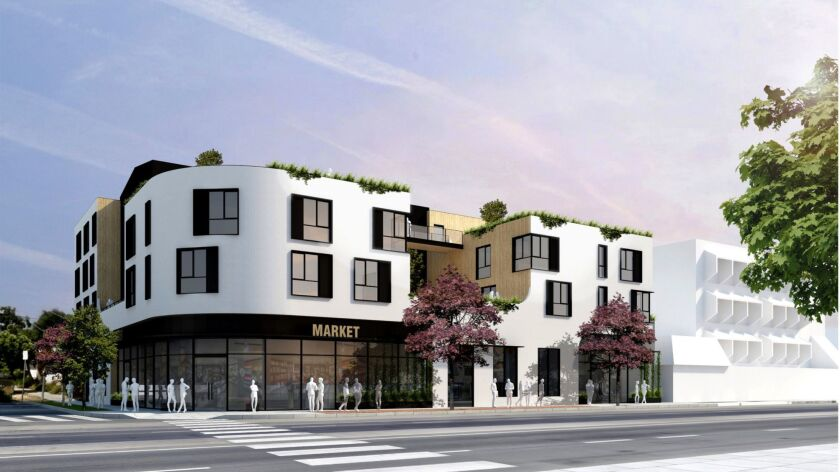 Rendering for a 38-unit apartment building in Toluca Lake
