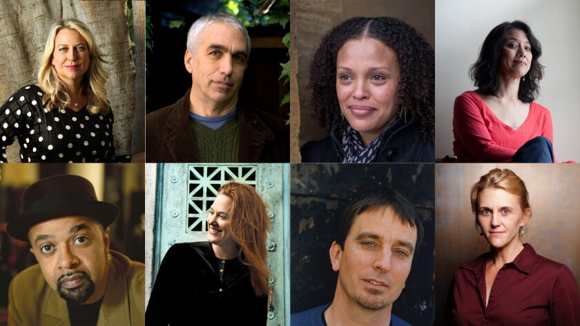 """""""Why We Write About Ourselves"""" features 20 memoirists including (from left to right): Cheryl Strayed, David Sheff, Jesmyn Ward, Sandra Tsing Loh, James McBride, Kate Christensen, Nick Flynn, Meghan Daum and more."""