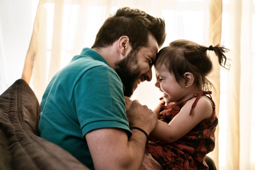 Aref Krez and his daughter Perla of Gaziantep, Turkey, are featured in this photograph by Nish Nalbandian, who will be discussing his work at a World Refugee Day event being held June 20 at SDSU's Downtown Gallery in downtown San Diego. The event runs from 11 a.m. to 8 p.m. Nalbandian will be speaking from 5:15 to 6:15 p.m.