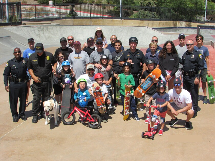 A past Skate Jam event with San Diego Police.