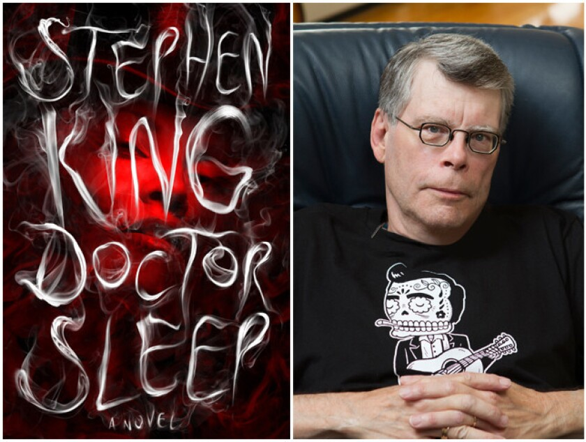 "The cover of ""Doctor Sleep"" and author Stephen King."
