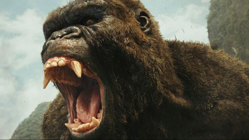 """This image released by Warner Bros. Pictures shows a scene from, """"Kong: Skull Island."""" (Warner Bros."""